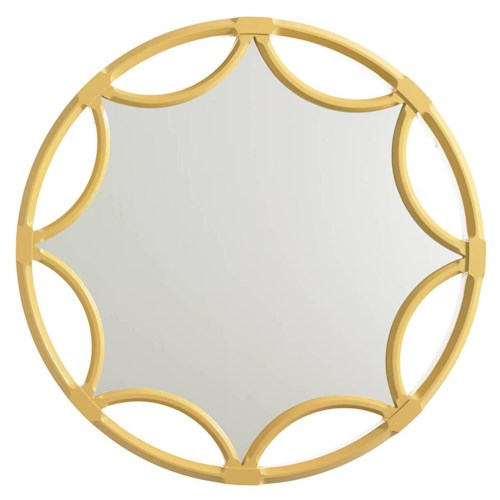 Stanley Furniture Crestaire Amado Mirror with Cutout Starburst Pattern