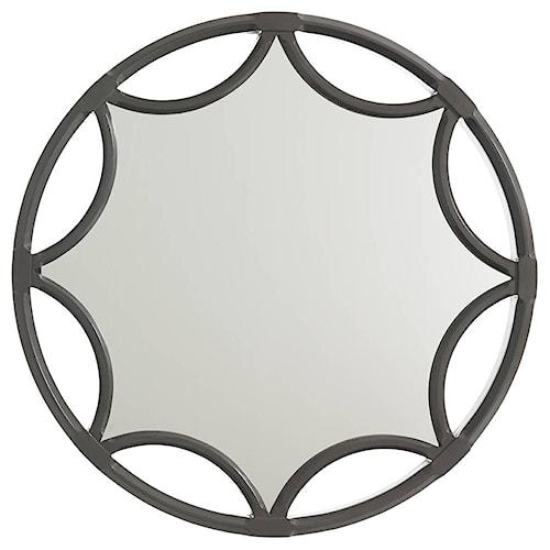 Stanley Furniture Crestaire Amado Mirror with Cutout Starburst Pattern