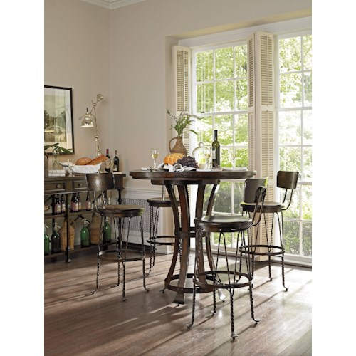 Stanley Furniture European Farmhouse Casual Dining Room Group