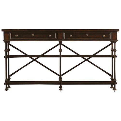Stanley Furniture European Farmhouse Belgian Cross Huntboard