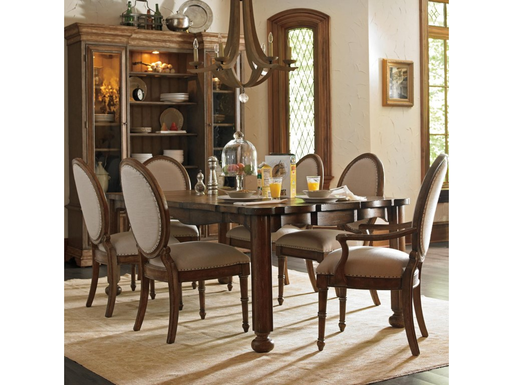 Shown with Million Starts Hostess Chairs, Farmer's Market Table, and Les Halles Cabinet