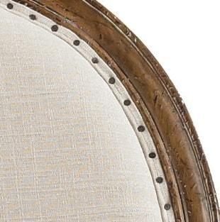 Slight Variations in Hand-Applied Upholstery Tacks Speak to Artisan Craftsmanship