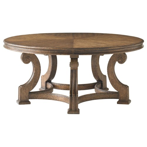 Stanley Furniture La Palma Portfolio Traditional Round Cocktail Table