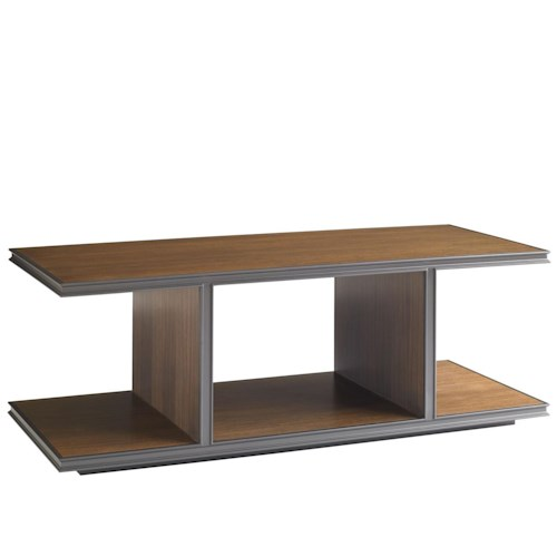 Stanley Furniture Montreux Rectangular Cocktail Table with Open Compartments