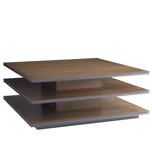 Stanley Furniture Montreux Square Cocktail Table with 2-Fixed Shelves