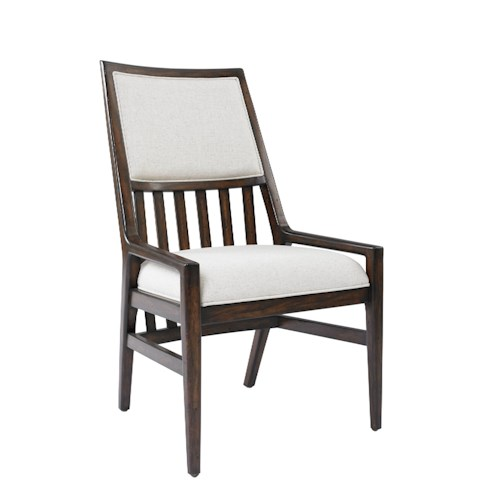 Stanley Furniture Newel Upholstered Back Chair with Slat Back Detail