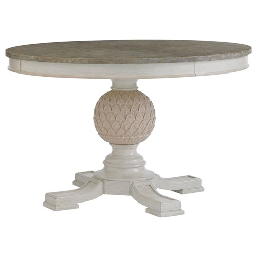 Stanley Furniture Preserve Artichoke Pedestal Table with Leaf