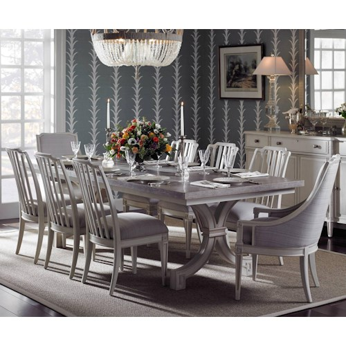 Stanley Furniture Preserve 9-Piece St. Helena Trestle Table Set