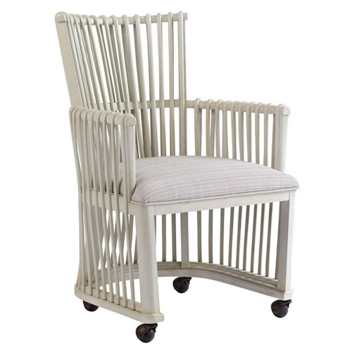 Stanley Furniture Preserve Rattan Hampton Club Chair with Casters