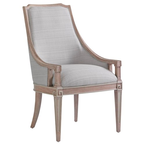 Stanley Furniture Preserve Transitional Upholstered Maybank Host Chair with Two-Tone Finish