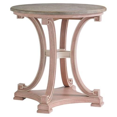 Stanley Furniture Preserve Myrtle Lamp Table with Aged Wood Top