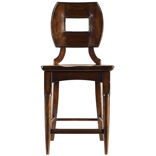 Stanley Furniture The Classic Portfolio Artisan Classic Wood Counter Stool