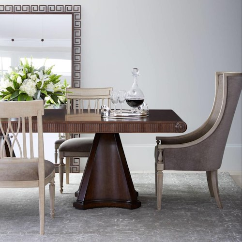 Stanley Furniture Villa Couture 7-Piece Dante Double Pedestal Table Set
