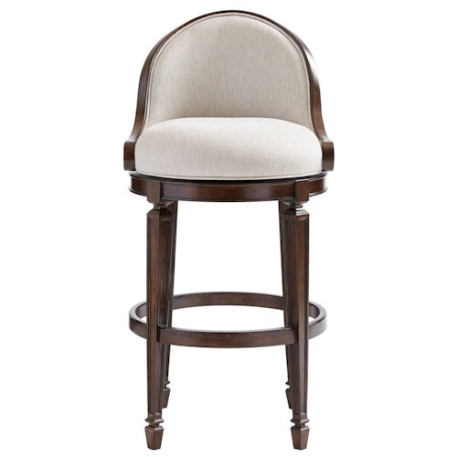 Stanley Furniture Villa Couture Como Bar Stool with Swivel Seat