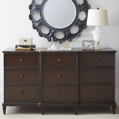 Stanley Furniture Villa Couture Lucio Dresser & Wall Aurora Mirror