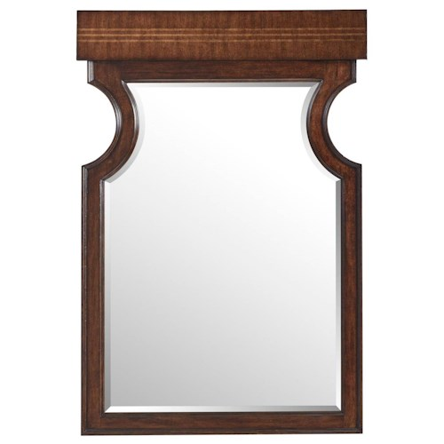 Stanley Furniture Villa Couture Dario Mirror with Maple Inlay