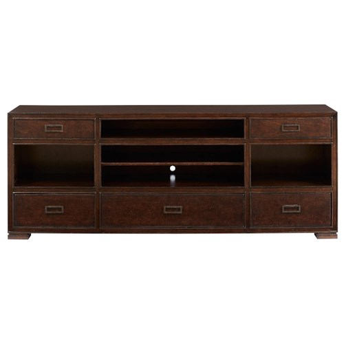 Stanley Furniture Villa Couture Gaia Media Console in Mottled Walnut Finish