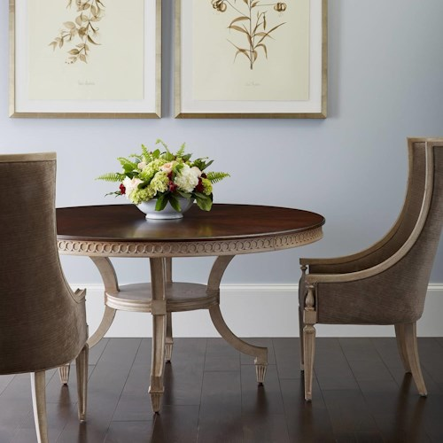 Stanley Furniture Villa Couture 3-Piece Ana Round Table Set with Matteo Host Chairs