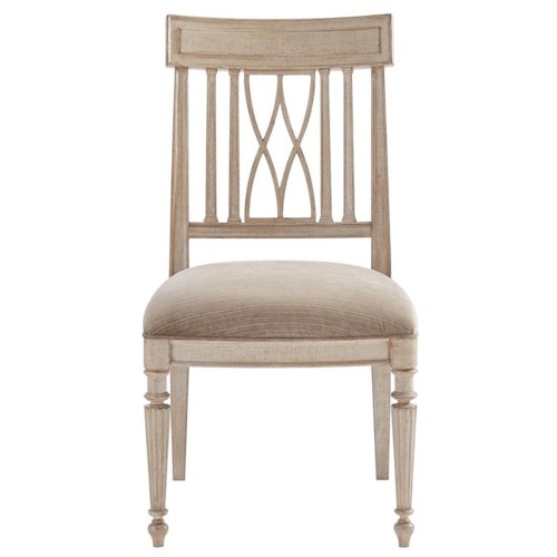 Stanley Furniture Villa Couture Lucca Side Chair with Upholstered Slip Seat
