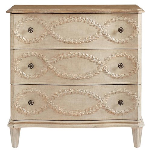 Stanley Furniture Villa Couture Nicolo Bachelor's Chest with Olive Branch Carvings