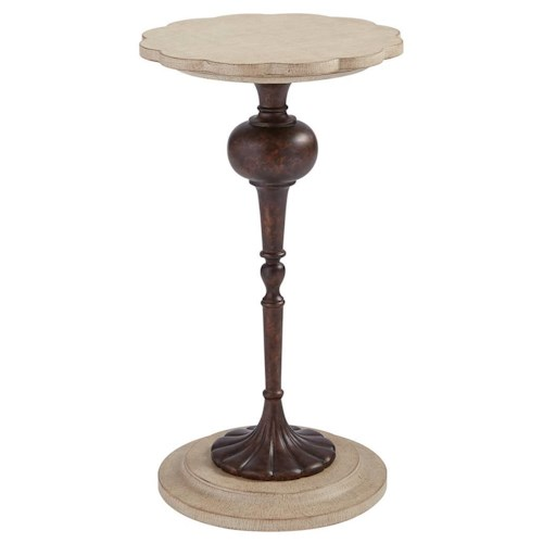 Stanley Furniture Villa Couture Fiore Martini Table with Scalloped Table Top