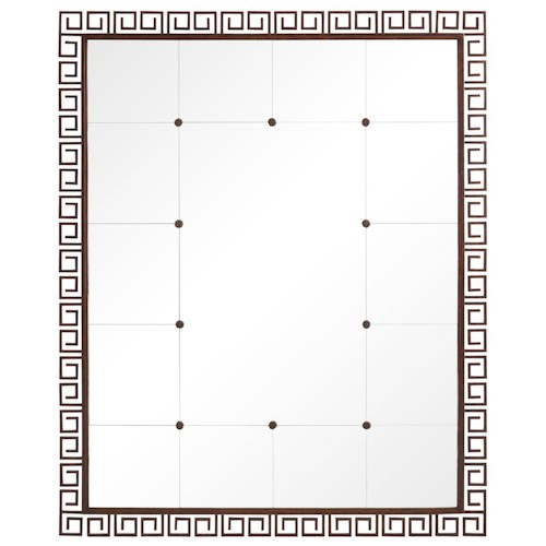 Stanley Furniture Villa Couture Veronica Floor Mirror with Metal Greek Key Motif Frame
