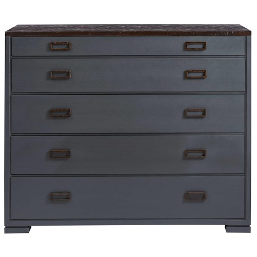 Stanley Furniture Villa Couture Gaia Media Chest with Flip Front Media Drawers & Built-In Outlet