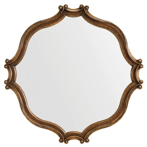 Stanley Furniture Villa Fiora Traditional Wall Mirror with Scrolled Frame