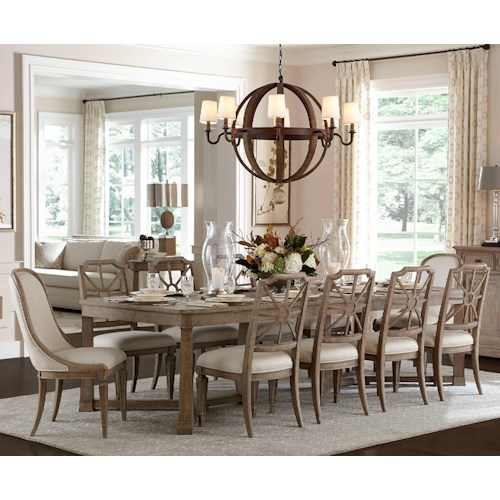 Messina Estates Seven Piece Traditional Dining Table And: Stanley Furniture Wethersfield Estate 11-Piece Rectangular