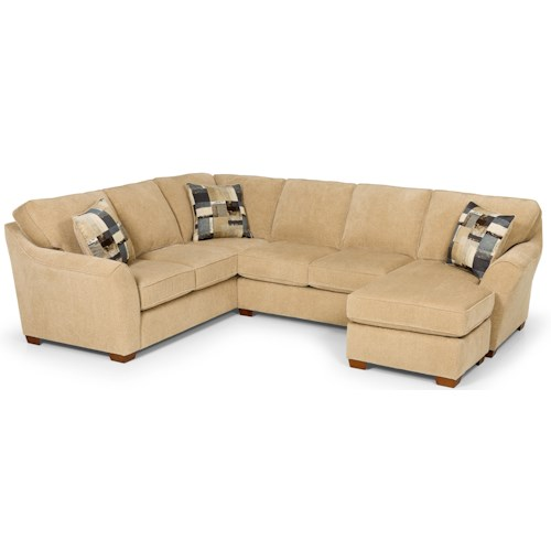 Stanton 112 Contemporary L Shaped Sectional With Chaise Gallery Furniture Sofa Sectional