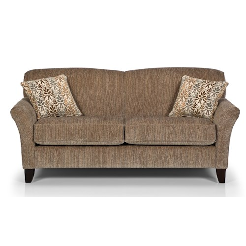 Stanton 455 Contemporary Loft Sofa With Reverse Camel Back