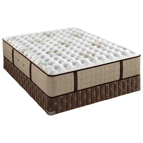 Stearns & Foster Sainte Rose Luxury Cushion Firm King Luxury Cushion Firm Mattress and Low Profile Box Spring