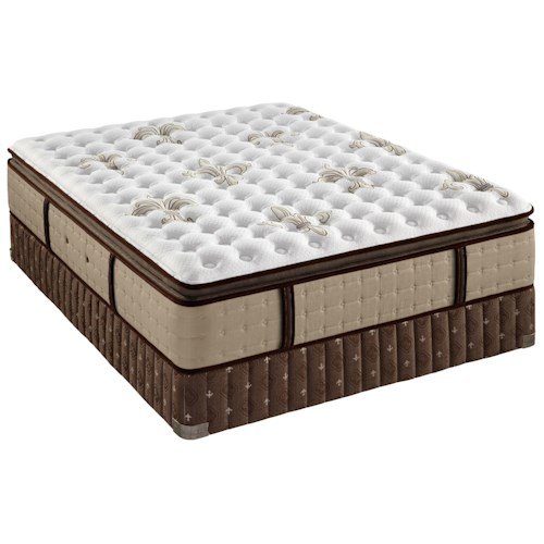 Stearns & Foster Sainte Rose Luxury Firm Euro Top Queen Firm Euro Pillow Top Mattress and Low Profile Box Spring