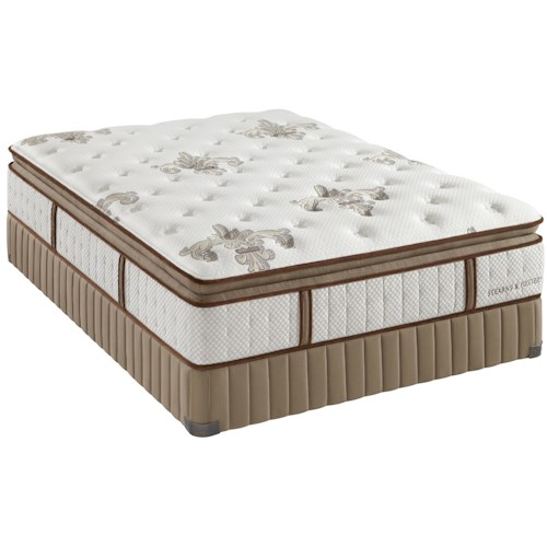 Stearns & Foster Estate Gel Dorothy King Luxury Plush Euro Pillow Top Mattress and Foundation