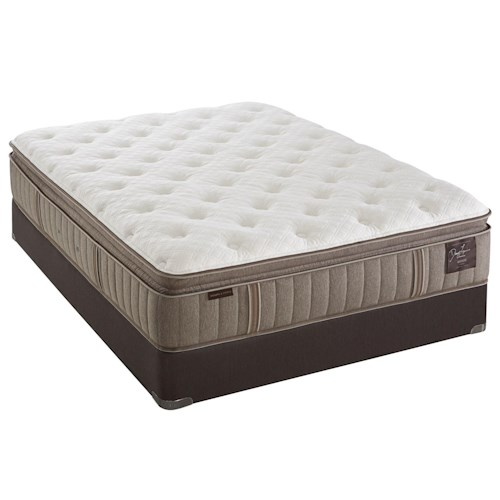 Stearns & Foster F4 Estate Plush EPT 2016 California King Plush Euro Pillowtop Mattress and Reflexion 7 Adjustable Base