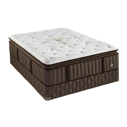 Stearns & Foster LX8 Lux Estate Queen Euro Pillow Top Mattress and Reflexion 7 Adjustable Base