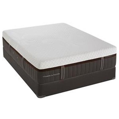 Stearns & Foster Lakelet Elite Twin Firm Hybrid Mattress and Reflexion 4 Adjustable Base