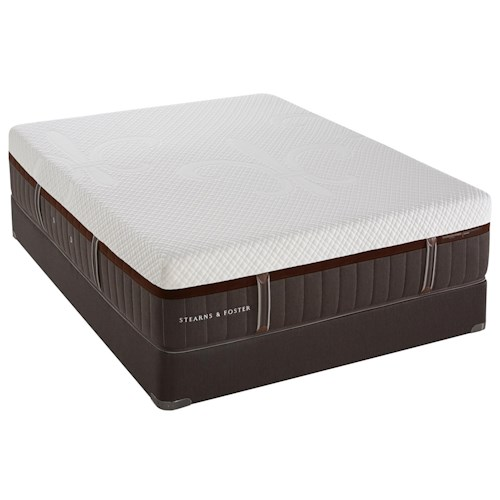 Stearns & Foster Brooklet Elite King Cushion Firm Hybrid Mattress and Reflexion 4 Adjustable Base