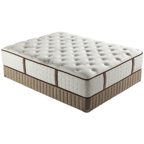 Stearns & Foster Estate 2012 Queen Luxury Plush Mattress and Low Profile Box Spring