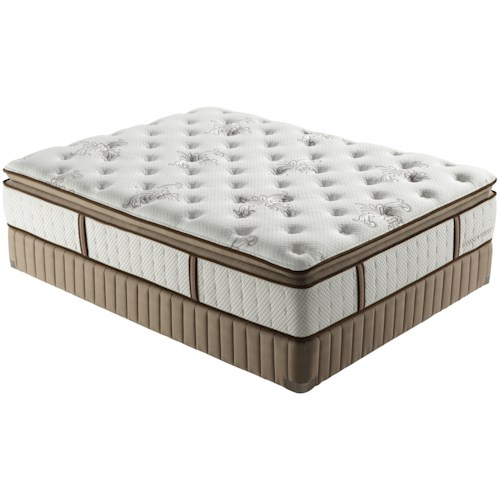Stearns & Foster Estate 2012 Twin Extra Long Luxury Firm Euro Pillow Top Mattress and Low Profile Box Spring