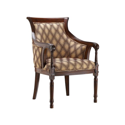 Stein World Accent Chairs Accent Chair with Hypnotize Latte Fabric
