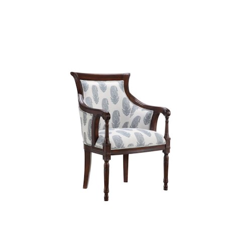 Morris Home Furnishings Accent Chairs Accent Chair with New Delhi Royal Fabric