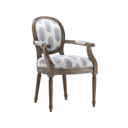 Stein World Accent Chairs Accent Chair w/New Delhi Royal Fabric