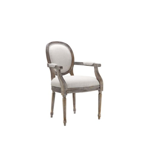 Stein World Accent Chairs Accent Chair w/Caitlin Flax Fabric