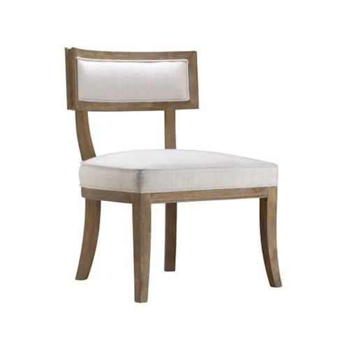 Stein World Accent Chairs Accent Chair with Caitlin Flax Fabric