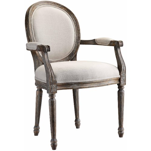 Morris Home Furnishings Accent Chairs Accent Chair w/ Fluted Legs