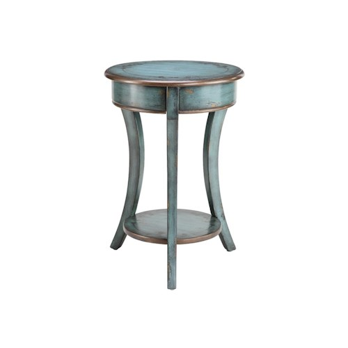 Morris Home Furnishings Accent Tables Round Accent Table Curved Legs