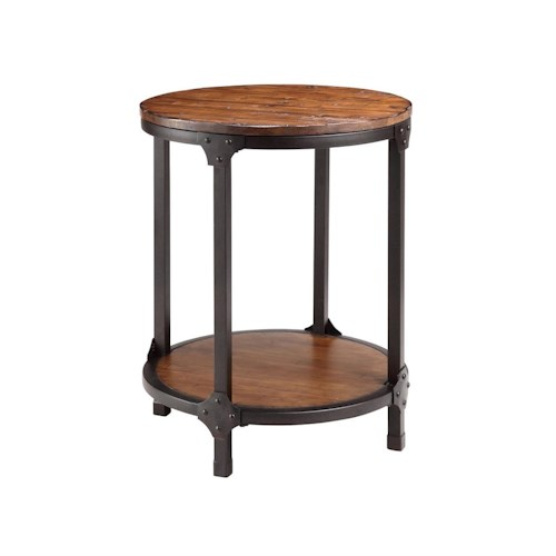 Stein World Accent Tables Round Wood & Metal End Table