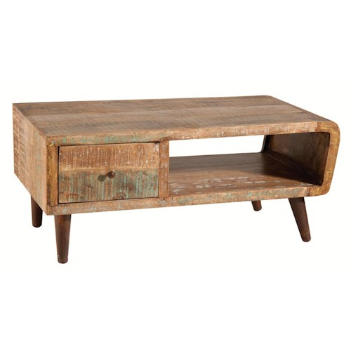 Morris Home Furnishings Accent Tables Wood Cocktail Table