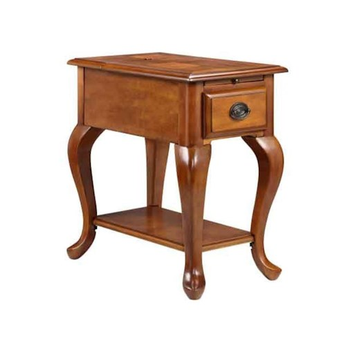 Morris Home Furnishings Accent Tables 1-Drawer Chairside table in golden honey